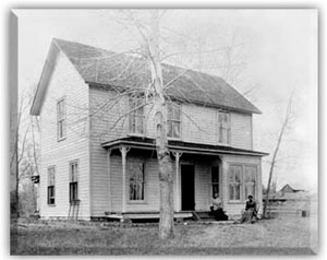 The Fenton House as it appeared before restoration into a historic vacation spot in Sheridan Montana by Kathleen Wuelfing