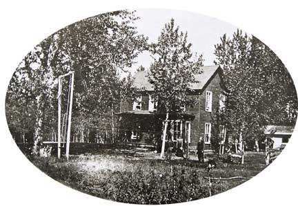 A historic photo of the Fenton House in Sheridan Montana as it appeared before restoration by Kathleen Wuelfing.