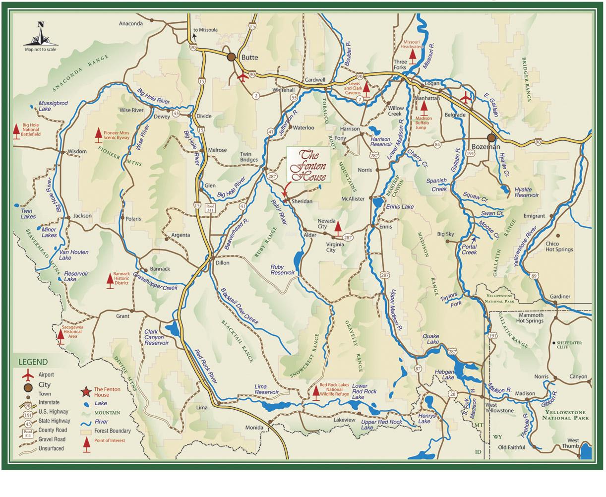 Ruby River Montana Map Montana Map - Rivers in montana map